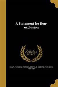 STATEMENT FOR NON-EXCLUSION