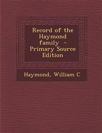 Record of the Haymond family