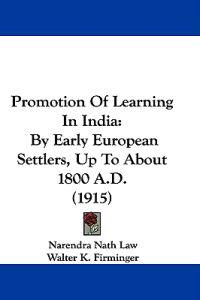 Promotion of Learning in India