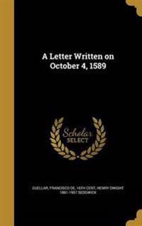 LETTER WRITTEN ON OCTOBER 4 15