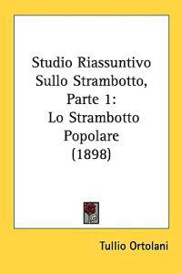 Studio Riassuntivo Sullo Strambotto