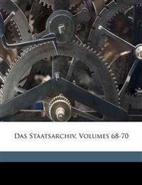 Das Staatsarchiv, Volumes 68-70