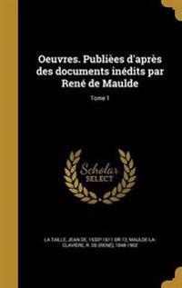 FRE-OEUVRES PUBLIEES DAPRES DE