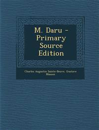 M. Daru - Primary Source Edition