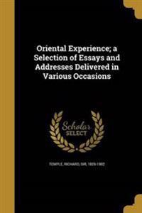 ORIENTAL EXPERIENCE A SELECTIO