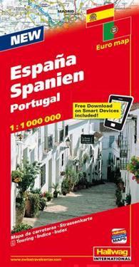 Hallwag Spanien-Portugal / Spain-Portugal Road Map