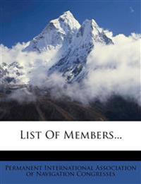 List Of Members...