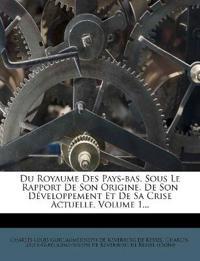 Du Royaume Des Pays-bas, Sous Le Rapport De Son Origine, De Son Développement Et De Sa Crise Actuelle, Volume 1...