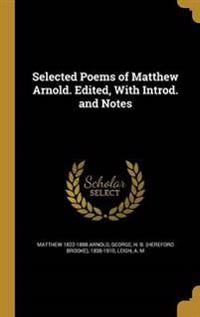 SEL POEMS OF MATTHEW ARNOLD ED