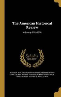 AMER HISTORICAL REVIEW VOLUME