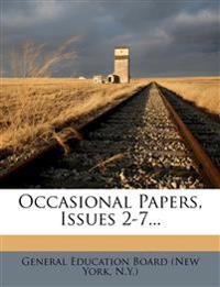 Occasional Papers, Issues 2-7...