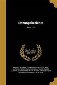 GER-SITZUNGSBERICHTE BAND 110