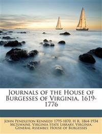 Journals of the House of Burgesses of Virginia, 1619-1776 Volume 4