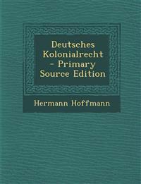 Deutsches Kolonialrecht