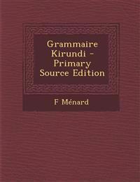 Grammaire Kirundi