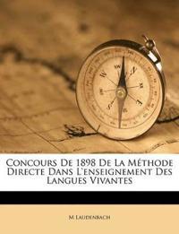 Concours De 1898 De La Méthode Directe Dans L'enseignement Des Langues Vivantes