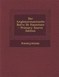 Der Anglonormannische Boeve De Haumtone