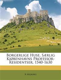 Borgerlige Huse, Særlig Kjøbenhavns Professor-Residentser, 1540-1630