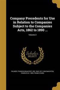 COMPANY PRECEDENTS FOR USE IN