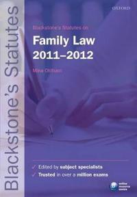 Blackstone's Statutes on Family Law