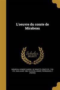 FRE-LOEUVRE DU COMTE DE MIRABE