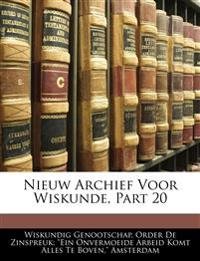 Nieuw Archief Voor Wiskunde, Part 20