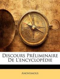 Discours Préliminaire De L'encyclopédie