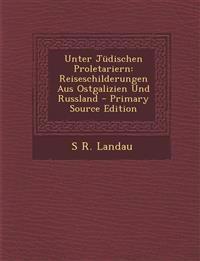 Unter Judischen Proletariern: Reiseschilderungen Aus Ostgalizien Und Russland - Primary Source Edition