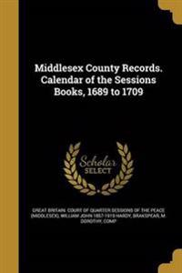 MIDDLESEX COUNTY RECORDS CAL O