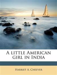 A little American girl in India