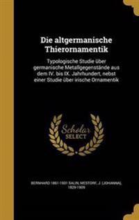 GER-ALTGERMANISCHE THIERORNAME