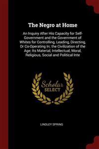 The Negro at Home: An Inquiry After His Capacity for Self-Government and the Government of Whites for Controlling, Leading, Directing, Or Co-Operating