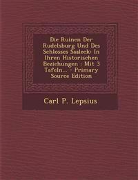 Die Ruinen Der Rudelsburg Und Des Schlosses Saaleck: In Ihren Historischen Beziehungen : Mit 3 Tafeln... - Primary Source Edition