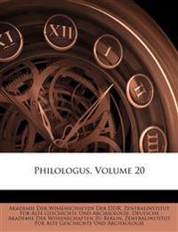Philologus: Zeitschrift für das klassiche Altherthum. Zwanzigster Jahrgang