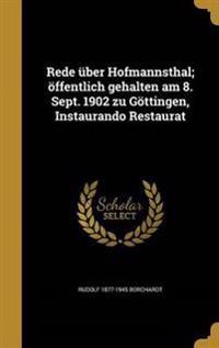 GER-REDE UBER HOFMANNSTHAL OFF
