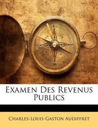 Examen Des Revenus Publics