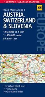 AA Road Map Austria, Switzerland & Slovenia