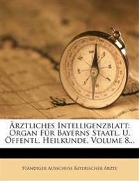 Aerztliches Intelligenz-Blatt, Achter Jahrgang