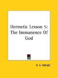 The Immanence of God