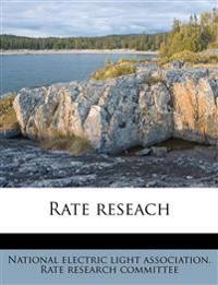 Rate reseach