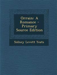 Orrain: A Romance