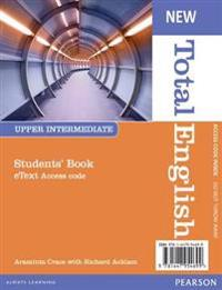 New Total English Upper Intermediate eText Students' Book Access Card