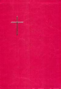 Raamattu  (122 x 180 mm, nahkakansi, suojareuna, hopeasyrjä, reunahakemisto, kartasto, 2 lukunauhaa)