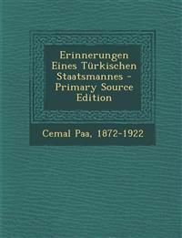 Erinnerungen Eines Türkischen Staatsmannes