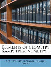 Elements of geometry & trigonometry ..