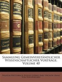 Sammlung Gemeinverst Ndlicher Wissenschaftlicher Vortr GE, II Serie
