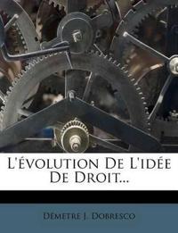 L'évolution De L'idée De Droit...