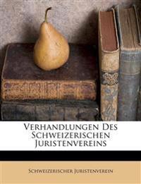 Verhandlungen Des Schweizerischen Juristenvereins
