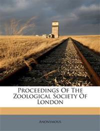 Proceedings Of The Zoological Society Of London