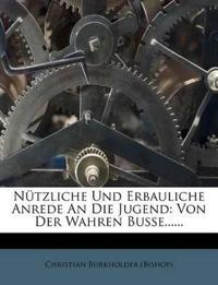 Nützliche Und Erbauliche Anrede An Die Jugend: Von Der Wahren Busse......